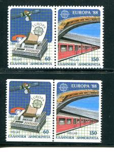 Greece Europa 1988 regular and booklet issues VF NH