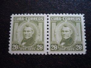 Stamps - Cuba - Scott#526 - MNH Pair