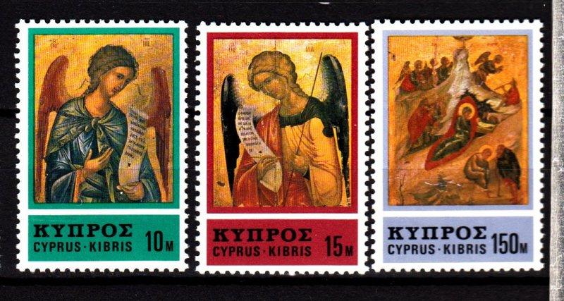 Cyprus MNH 471-3 Christmas Angels 1976
