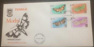 O - r) 1980 TUVALU, BUTTERFLIES - AETHALOESSA - SHOWN - PAROTIS - DUDUA - DEC