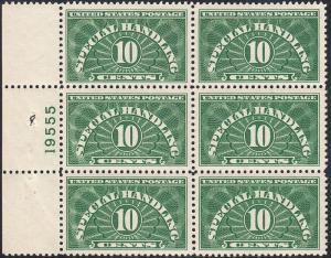 U.S. QE1 VF NH PBlk/6  (122118)
