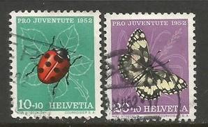 SWITZERLAND B218-19 VFU BUTTERFLIES R226