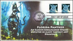 AO-4142,2007, Florida Panther, Booklet Stamp, Add-on Cachet, FDC, SC 4141,