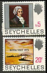 Seychelles 297-298 Mint VF NH with tabs not shown