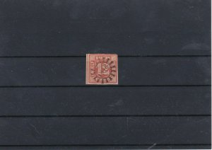 Balvaria 1850-62 12k Red Used Stamp CAT£225 Ref: R7516