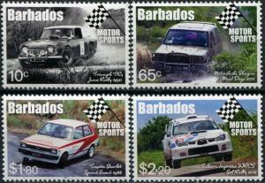 Barbados 2017. Motor Sports (MNH OG) Set of 4 stamps