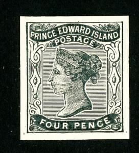 Prince Edward Island Stamps # 9 XF Proof on Card