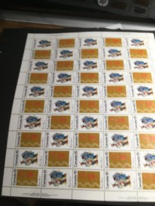 Canada #580-581 Imprint Sheet of 50 DF VF-NH Cat. $16.20 as Singles & P.Blocks
