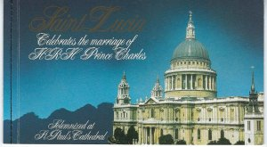 ST LUCIA SCOTT # 549 1981 ROYAL WEDDING ISSUE- BOOKLET