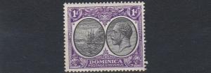 DOMINICA  1923 - 33   S G  72    1D   BLACK  & VIOLET     MH