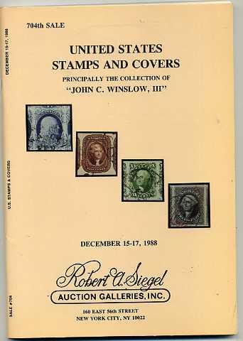 Siegel Auction Sales Famous John Winslow Collection