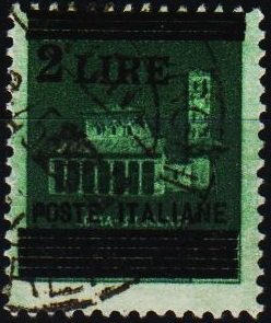 Italy. 1945 2L on 25c  S.G.628 Fine Used