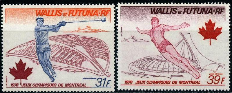 Wallis and Futuna Islands #C70-C71 '76 Olympic Games MNH