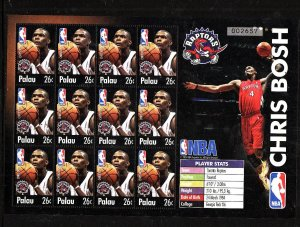 Palau-Sc#801-Unused NH sheet-Sports-Basketball-NBA-Toronto Raptors-Chris Bosh-20