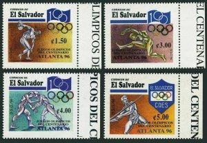 Salvador 1442-1445,MNH.Mi 224-2027. Olympics Atlanta-1996.Early Greek athletes.