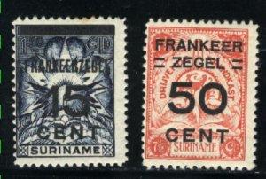 Surinam #135,138   Mint F  1927  PD