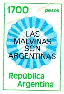 Argentina 1982 Claim on Falkland Is.set (1) Sc # 1338 overp.
