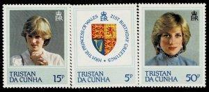 Tristan Da Cunha 1982 21st Birthday Of Princess Diana MNH