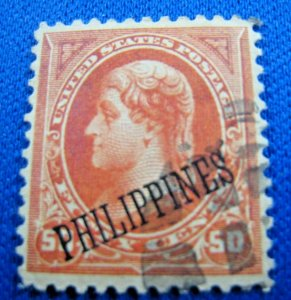 PHILIPPINES 1899  -  SCOTT # 219a  -  USED                (Hp11)