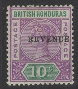 BRITISH HONDURAS SG67 1899 10c MAUVE & GREEN MTD MINT