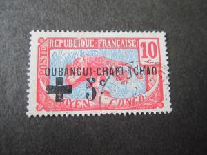 French Ubangi-Shari 1916 Sc B1 FU