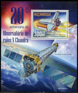 MOZAMBIQUE 2019 20th ANNIVERSARY OF  CHANDRA X-RAY OBSERVATORY S/SHEET MINT NH