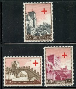 San Marino # 305-7, Mint Hinge. CV $ 28.00