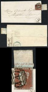 1841 Penny Red (AK) Inscriptional on Cover Plate 60