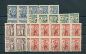 Finland 1946 Red Cross Sets Blocks MNH (40 Stamps) (KR 943