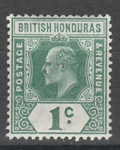 BRITISH HONDURAS 1908 KEVII 1C