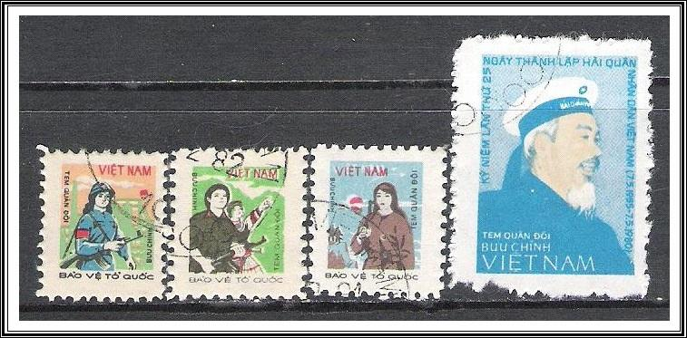 Vietnam North #M30-M33 Military Stamps CTO