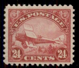 US #C6 24¢ carmine, og, NH, XF