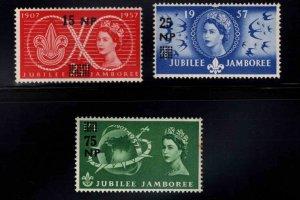 Oman Scott 76-78 MNH** 1957  set Jubilee Jamboree set