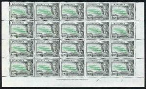 Dominica SG133/a 1.20 Block of 20 R8/4 with C of CA in watermark omitted RARE