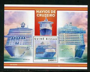 GUINEA BISSAU 2019 CRUISE SHIPS  SOUVENIR SHEET  MINT NEVER HINGED
