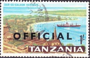 TANZANIA 1967 QEII 1/- Multicoloured Opt OFFICIAL SGO18 Fine Used