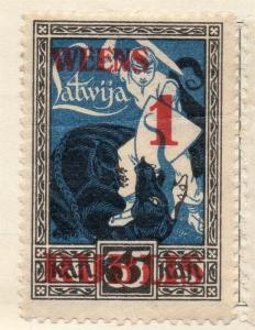 Latvia 1919-20 Early Issue Fine Mint Hinged 1r. Surcharged 142772