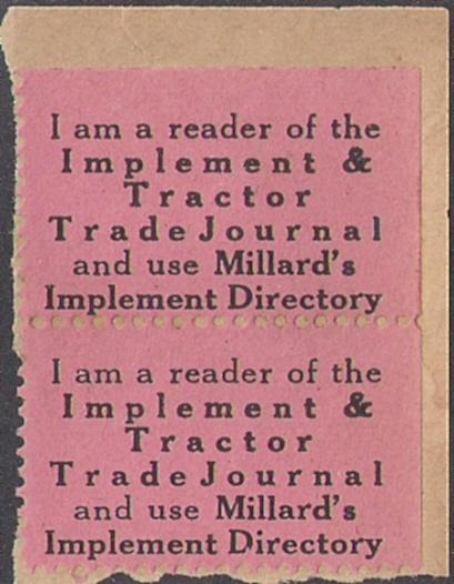 INDUSTRY STAMP: Implement Journal Millards Directory pair