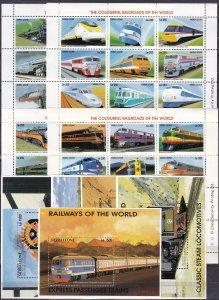 Sierra Leone #1850-3, 1853M-1853Q  MNH CV $57.00 (Z2530L)