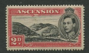 ASCENSION- Scott 43C - KGVI Definitive -1938 - MNG - Single 2d Stamp