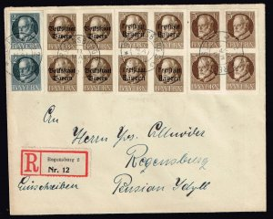 GERMANY STAMP COVER BAYERN KING LUDWIG III COVER