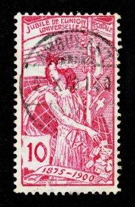SWITZERLAND SCOTT #99 USED AMBULANT TPO CDS CANCEL 1900 TYPE 3