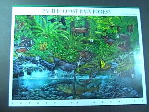 U.S.# 3378-MINT/NEVER HINGED-- PANE OF 10-PACIFIC COAST RAIN FOREST--2000