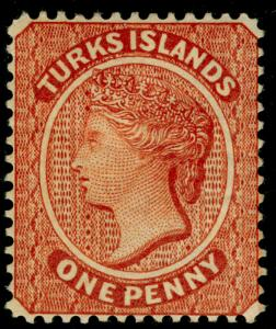TURKS AND CAICOS ISLANDS SG55, 1d orange-brown, M MINT. Cat £100.