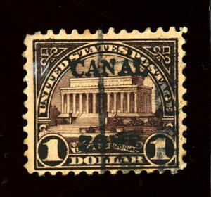 Canal Zone #95 Used F-VF Cat $55