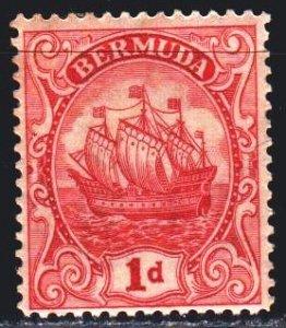 Bermuda. 1928. 71 III. Columbus sailing ship. MLH.