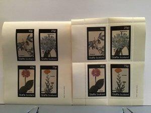 Staffa Scotland plant flowers Agapanthus  Zinnia MNH stamps  R25309