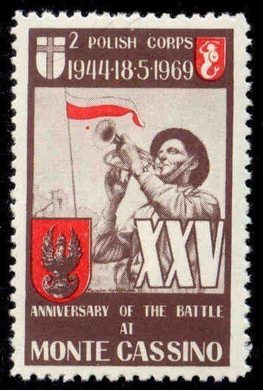 US 1969 Second Polish Corps Poster Stamp