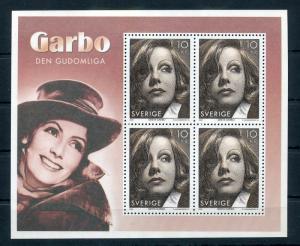 SWEDEN 2005 Greta Garbo Sheet Films  Movie Star Unused Unhinged Sheet (Zc223s
