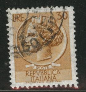 Italy Scott 785 used 1960 17x21mm perf 14 stamp